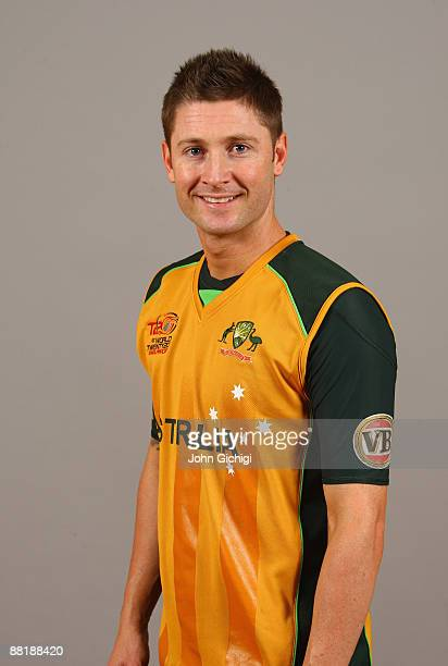 Michael Clarke of Australia poses for a portrait prior to the ICC World Twenty20 at Marriot Regent's Park on June 3 2009 in London England