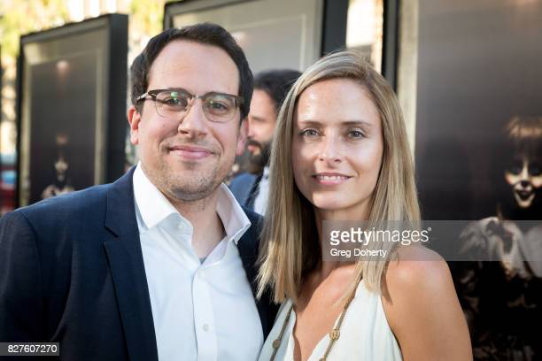 Michael Clear Atomic Monster Executive and Annabelle creation CoProducer and his wife arrive for the Premiere Of New Line Cinema's 'Annabelle...