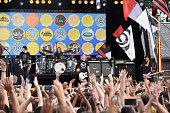 Michael Clifford Ashton Irwin Luke Hemmings and Calum Hood of 5 Seconds Of Summer Perform on ABC's 'Good Morning America' at Rumsey Playfield Central...