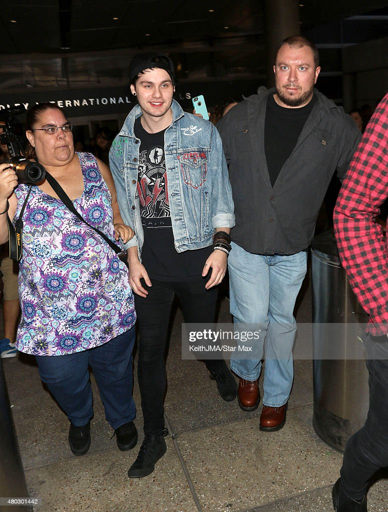 Michael Clifford of 5 Seconds of Summer are seen on July 10, 2015 in Los Angeles, California.