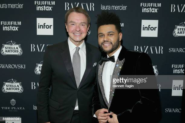 Michael Clinton and The Weeknd attend Harper's BAZAAR Celebration of 'ICONS By Carine Roitfeld' at The Plaza Hotel presented by Infor Laura Mercier...