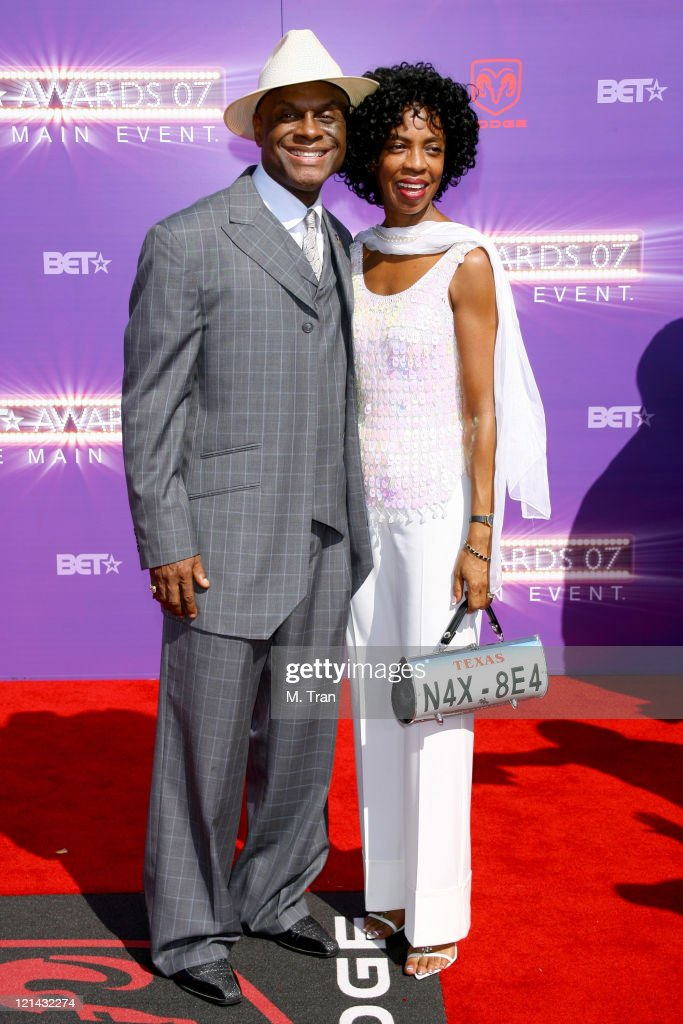 Michael Colyar and guest during BET Awards 2007 Arrivals at Shrine Auditorium in Los Angeles California United States