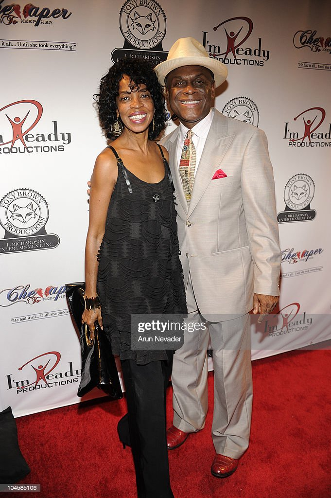 Michael Colyar and wife Brooks appear at the Vivica A Fox Brian McKnight Performance of 'Cheaper To Keep Her' At The Wiltern Theatre on September 30...