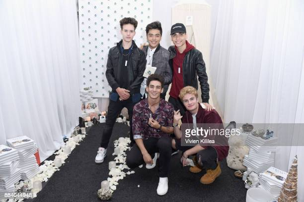 Michael Conor Sergio Calderon and Drew Ramos Chance Perez and Brady Tutton of In Real Life attend the 1027 KIIS FM Artist Gift Lounge at 1027 KIIS...