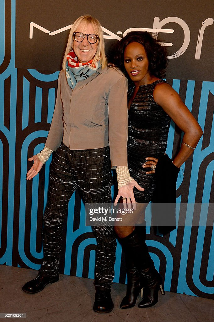 Michael Costiff and Winn Austin attend the MAC Pro to Pro Textile Party at London's Camden Roundhouse on April 29, 2016 in London, England.