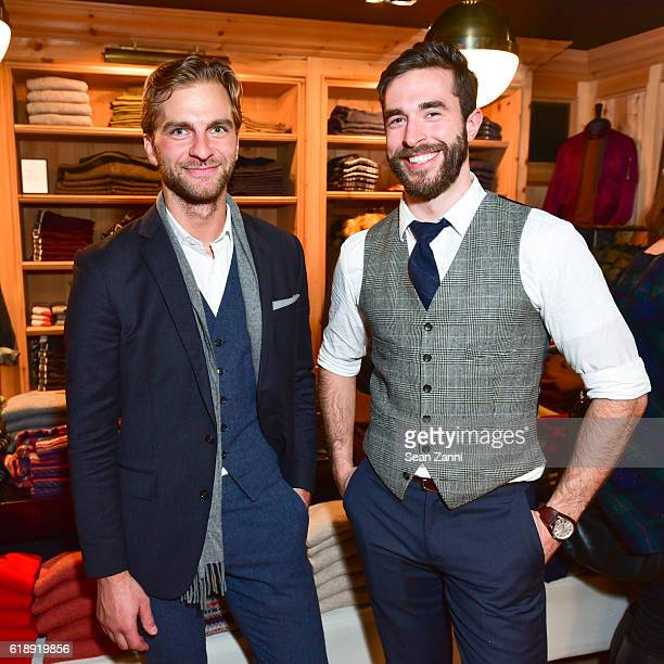 Michael Cramer and Brad Lanphear attend Frank Muytjens JCrew Celebrate David Coggins New Book 'Men and Style' at JCrew Men's Shop on October 27 2016...