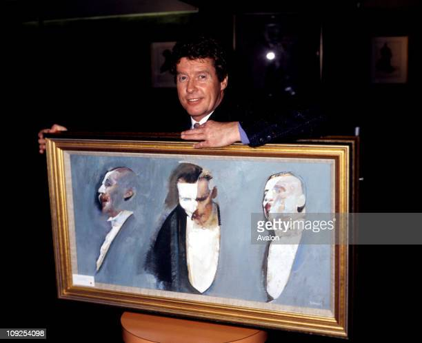 Michael Crawford British Actor Star Of The Stage Musical Phantom Of The Opera With A Painting By Robert Heindel