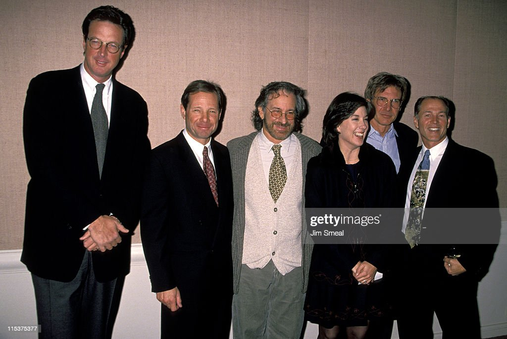 Michael Crichton Michael Ovitz Steven Spielberg Kathleen Kennedy Harrison Ford and Frank Marshall
