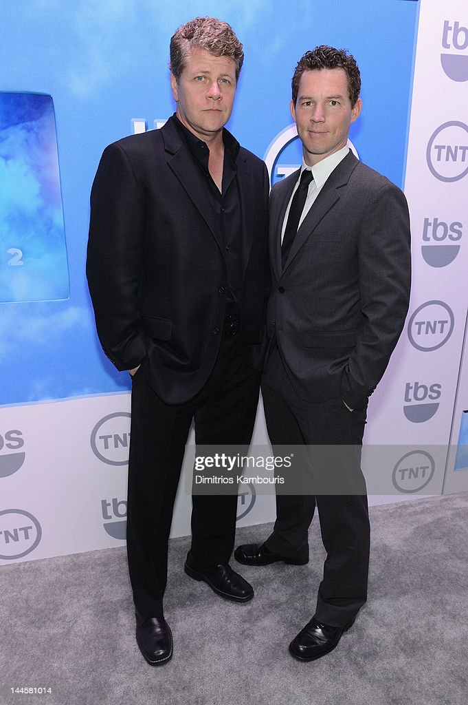 Michael Cudlitz and <a gi-track='captionPersonalityLinkClicked' href=/galleries/search?phrase=Shawn+Hatosy&family=editorial&specificpeople=683475 ng-click='$event.stopPropagation()'>Shawn Hatosy</a> attend the TNT/ TBS Upfront 2012 at Hammerstein Ballroom on May 16, 2012 in New York City. 22362_003_0248.JPG