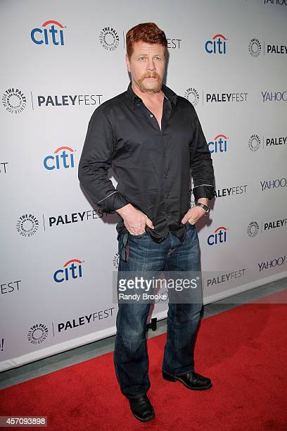 Michael Cudlitz attends the 2nd Annual Paleyfest New York Presents 'The Walking Dead' at Paley Center For Media on October 11 2014 in New York New...