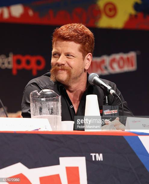 Michael Cudlitz speaks at 'The Walking Dead' NY Comic Con Panel on October 11 2014 in New York City