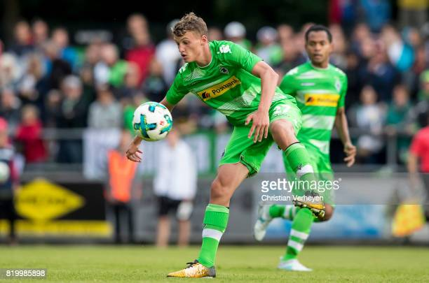 Michael Cuisance of Borussia Moenchengladbach controls the ball during a friendly match between Borussia Moenchengladbach and OGC Nice on July 20...