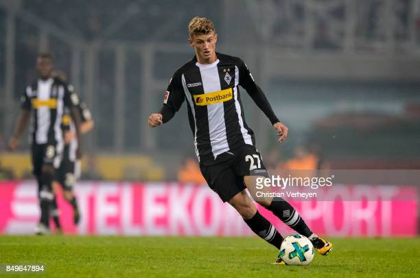 Michael Cuisance of Borussia Moenchengladbach controls the ball during the Bundesliga match between Borussia Moenchengladbach and VfB Stuttgart at...