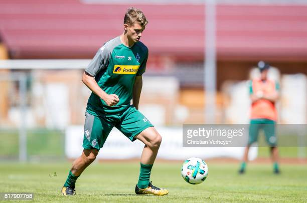 Michael Cuisance of Borussia Moenchengladbach during a training session at the Training Camp of Borussia Moenchengladbach on July 18 2017 in...
