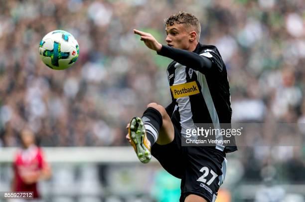Michael Cuisance of Borussia Moenchengladbach during the Bundesliga match between Borussia Moenchengladbach and Hannover 96 at BorussiaPark on...
