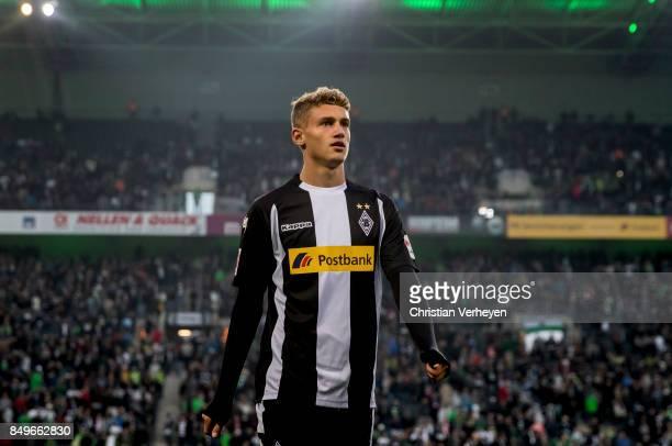 Michael Cuisance of Borussia Moenchengladbach prior the Bundesliga match between Borussia Moenchengladbach and VfB Stuttgart at BorussiaPark on...