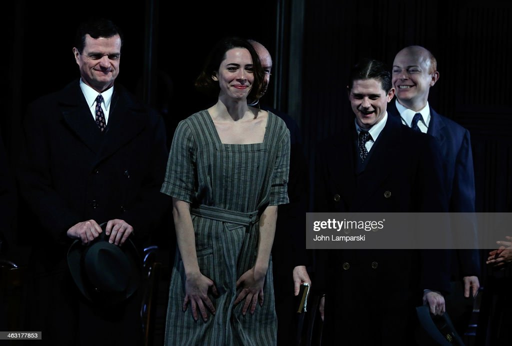 Michael Cumpsty Rebecca Hall Ryan Dinning and cast attend the Broadway opening night of 'Machinal' at American Airlines Theatre on January 16 2014 in...