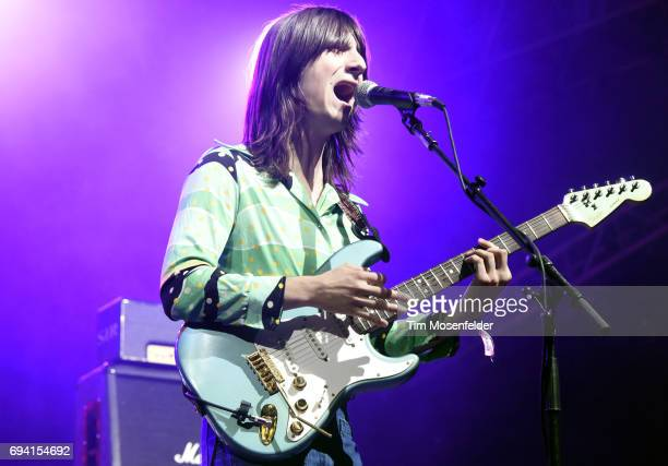 Michael D'Addario of The Lemon Twigs performs during the 2017 Bonnaroo Arts and Music Festival on June 8 2017 in Manchester Tennessee