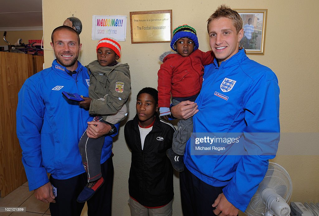 England Squad Visit Local Orphanage