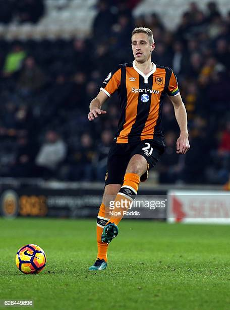 Michael Dawson of Hull City during the Premier League match between Hull City and West Bromwich Albion at KC Stadium on November 26 2016 in Hull...
