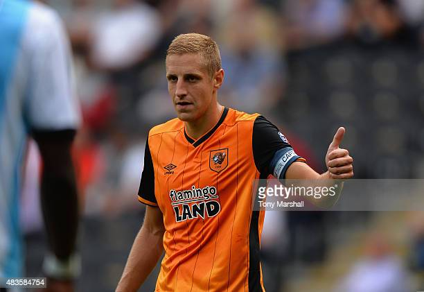 Michael Dawson of Hull City during the Sky Bet Championship match between Hull City and Huddersfield Town at KC Stadium on August 8 2015 in Hull...
