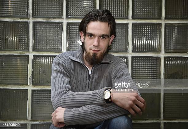 Michael Delforterie an ex djihadist known as 'Younes' poses in Mechelen on June 4 2015 AFP PHOTO / JOHN THYS