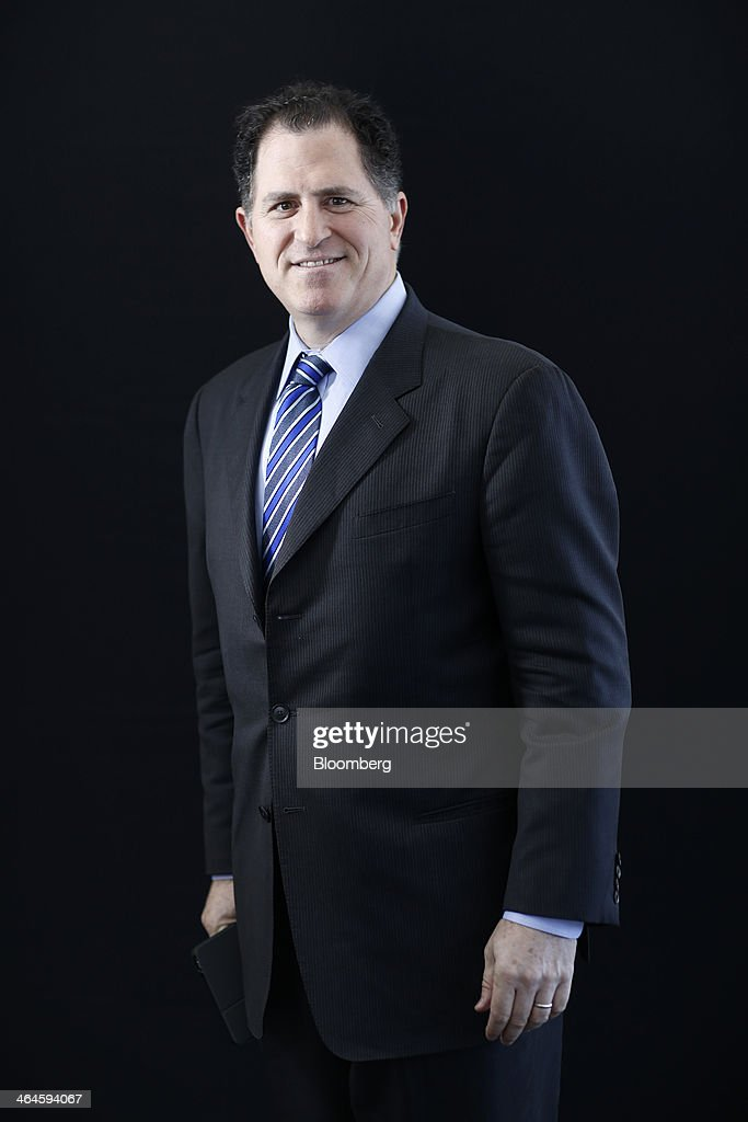 Michael Dell chairman and chief executive officer of Dell Inc poses for a photograph following a Bloomberg Television interview on day two of the...