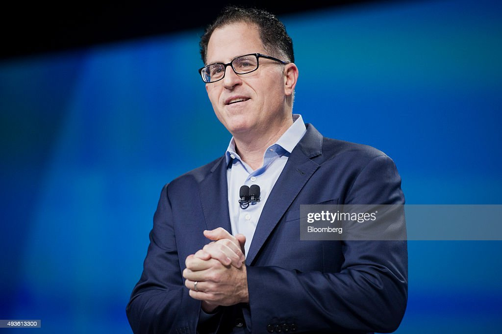 Michael Dell founder and chief executive officer of Dell Inc speaks during the 2015 Dell World Conference in Austin Texas US on Wednesday Oct 21 2015...