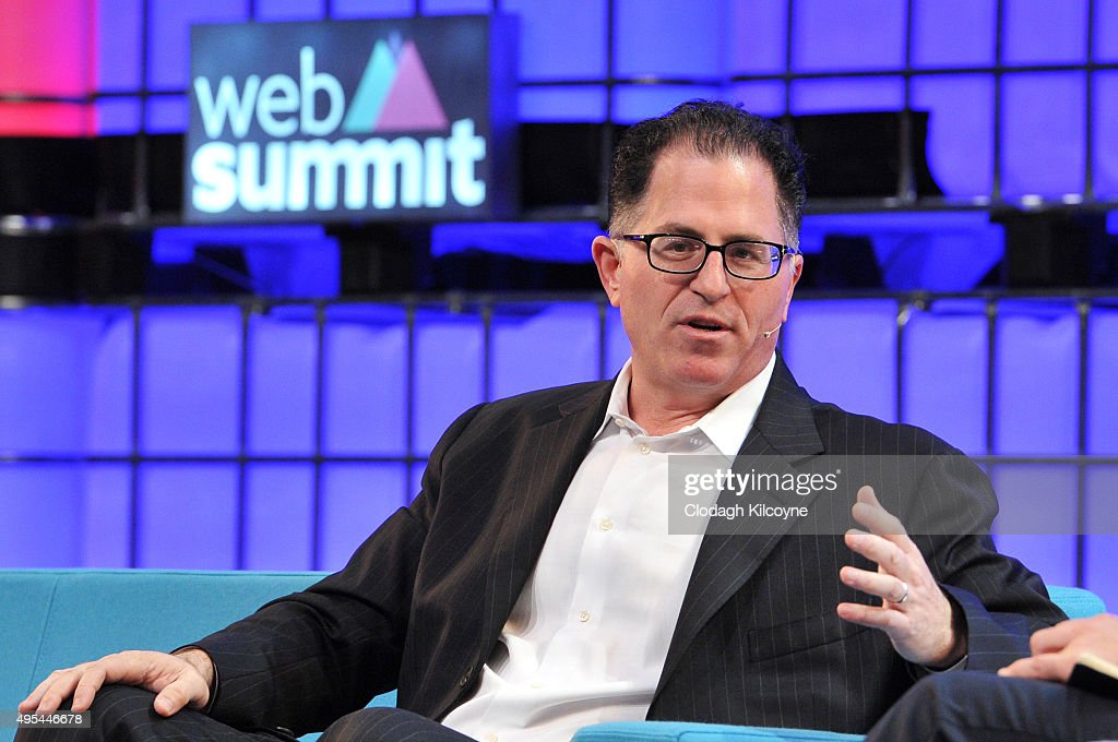 Michael Dell of Dell speaks on stage during the first day of the 2015 Web Summit on November 3 2015 in Dublin Ireland The Web Summit is now in it's...