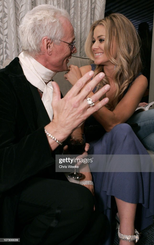 Michael Des Barres and Carmen Electra during Leslie Gardner's Smashing Grandpa Launches New Designs Inspired by 'I'm with the Band: Confessions of a Groupie' by Pamela Des Barres at Chateau Marmont at Chateau Marmont in West Hollywood, California, United States.