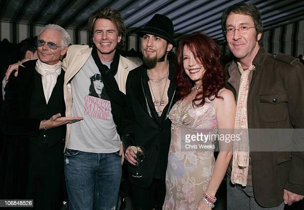 Michael Des Barres John Taylor of Duran Duran Dave Navarro Pamela Des Barres and Doug Fieger of The Knack