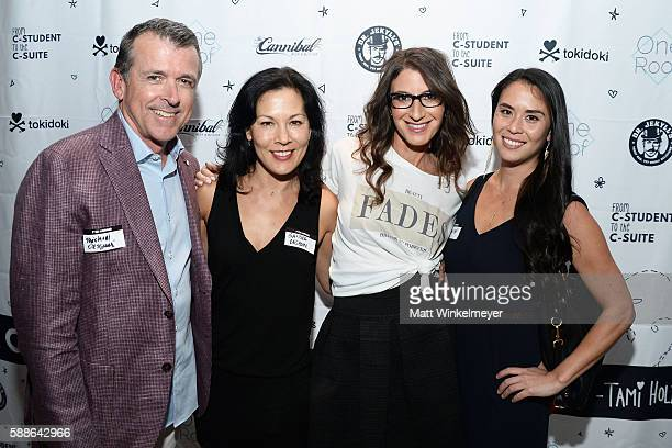 Michael Desguin Sandra Desguin Tami Holzman and Camise McNichols attend the book launch for 'From CStudent to the CSuite Leveraging Emotional...