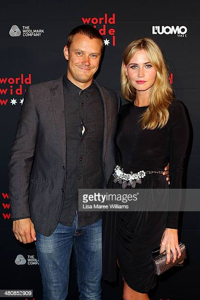 Michael Dorman and Anna Bamford arrive at the L'Uomo Vogue and Woolmark Company Gala and Exhibition to celebrate L'Uomo Vogue magazine's March Issue...