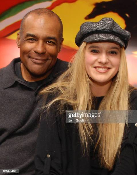 Michael Dorn and Ariana Savalas during Opening Party For The Ferrari Store in Los Angeles at Beverly Center in Los Angeles California United States