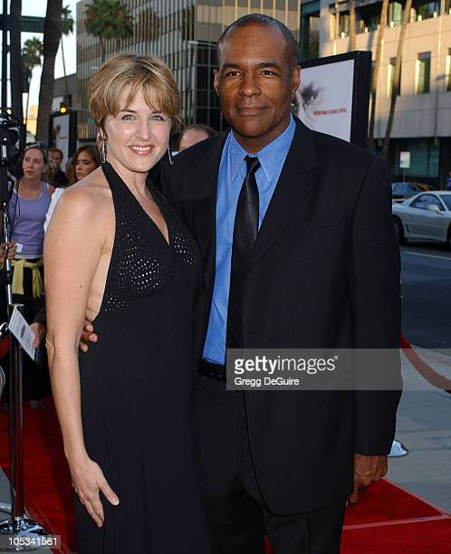 Michael Dorn and guest during 'The Manchurian Candidate' Los Angeles Premiere at The Academy in Beverly Hills California United States