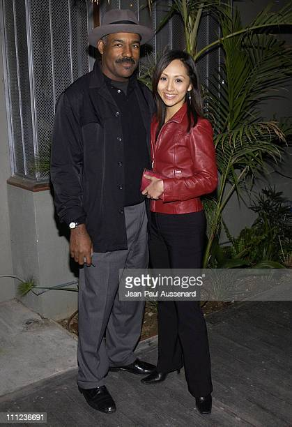 Michael Dorn and Linda Park during Fashion Show and Party at the GQ Lounge at GQ Lounge at White Lotus in Hollywood California United States