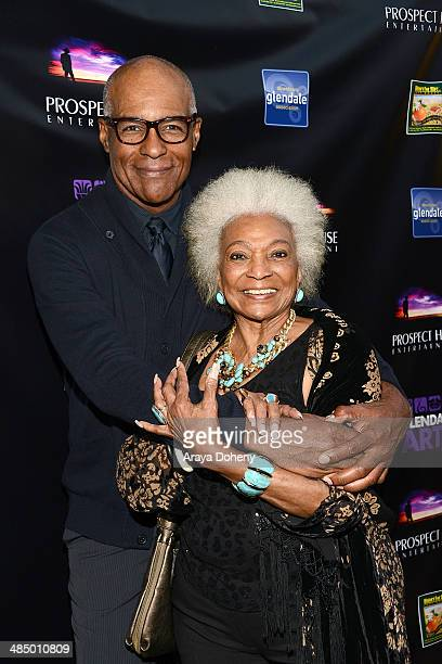 Michael Dorn and Nichelle Nichols attend the Prospect Entertainment with Glendale Arts presents The Malcom McDowell series and QA screening of 'Star...