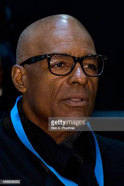 Michael Dorn takes part in a QA session during the Destination Star Trek event at ExCel on October 3 2014 in London England