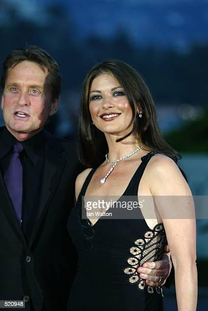 Michael Douglas and Catherine Zeta Jones arrive for the Laureus Sport for Good Foundation Dinner at the Salles des Etoiles in the Sporting Club in...