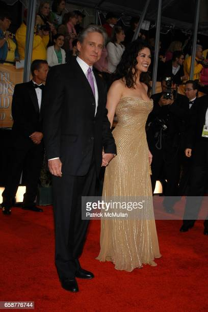 Michael Douglas and Catherine Zeta Jones attend The 10th Annual Screen Actors Guild honors outstanding film and television performances at the Shrine...