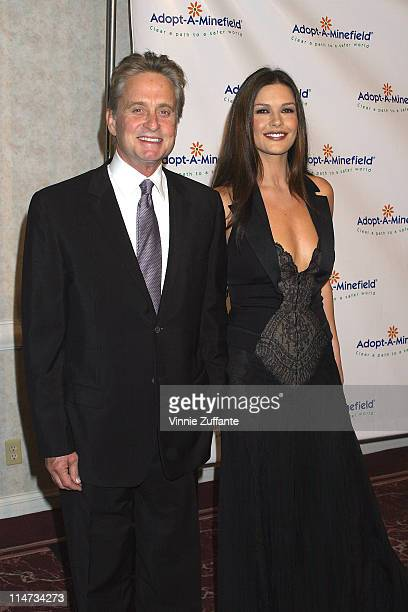 Michael Douglas and Catherine Zeta Jones attending the 3rd Annual AdoptAMinefield Benefit Gala at the Beverly Hilton Hotel in Beverly Hills CA...