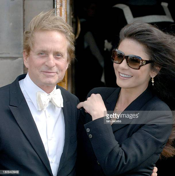 Michael Douglas and Catherine Zeta Jones during Michael Douglas Receives Doctor Of Laws For Contribution to the British Film Industry June 21 2006 at...