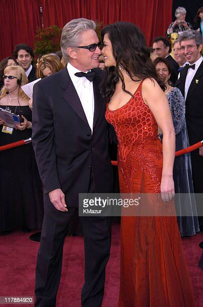 Michael Douglas and Catherine ZetaJones during The 76th Annual Academy Awards Arrivals by Kevin Mazur at The Kodak Theater in Hollywood California...