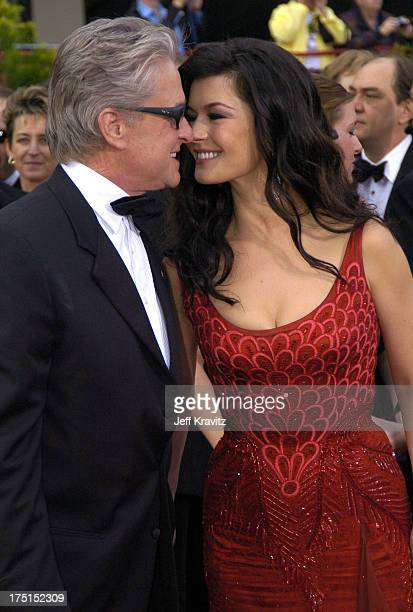 Michael Douglas and Catherine ZetaJones during The 76th Annual Academy Awards Arrivals by Jeff Kravitz at Kodak Theatre in Hollywood California...
