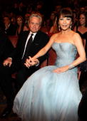 NEW YORK JUNE 13 Michael Douglas and Catherine ZetaJones in the audience at the 64th Annual Tony Awards at Radio City Music Hall on June 13 2010 in...
