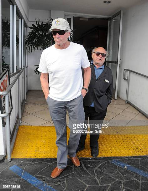 Michael Douglas and Danny DeVito are seen on August 27 2016 in Los Angeles California