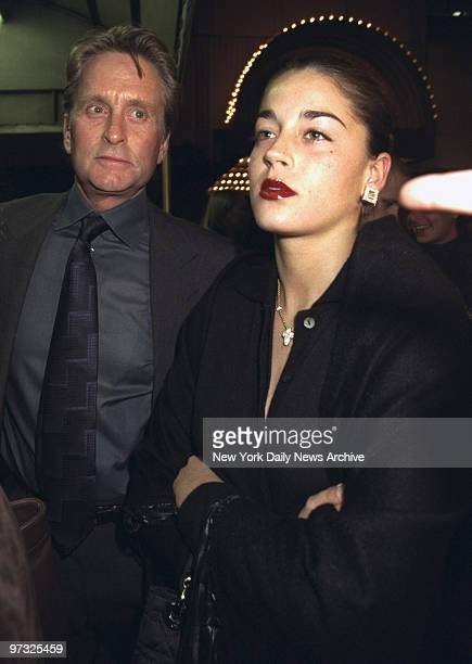 Michael Douglas and date Alexandra arrive at the Booth Theater for opening of the Sandra Bernhard show 'I'm Still Here Damn It'