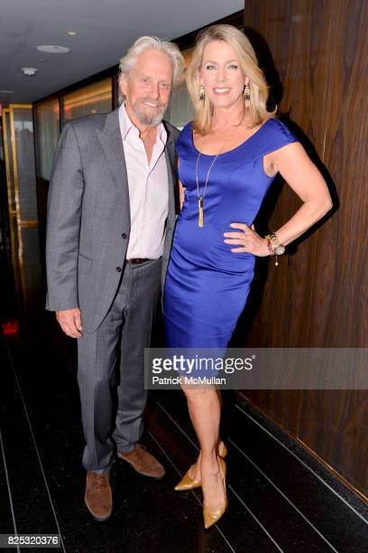Michael Douglas and Deborah Norville attend Magrino PR 25th Anniversary at Bar SixtyFive at Rainbow Room on July 25 2017 in New York City