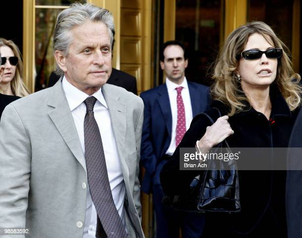 Michael Douglas and Diandra Douglas are seen on the streets of Manhattan on April 20 2010 in New York City