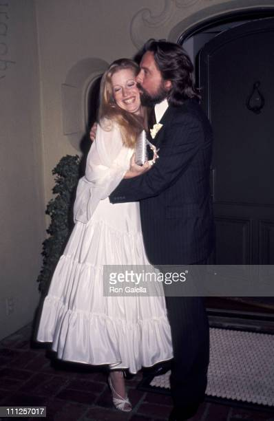 Michael Douglas and Diandra Douglas during Michael and Diandra Douglas Wedding Reception at Beverly Wilshire Hotel in Beverly Hills California United...